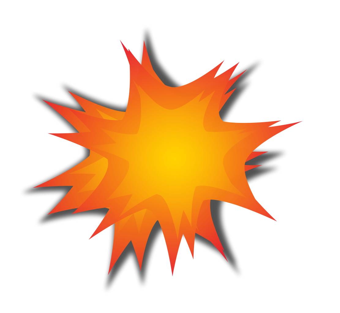 explosion clipart, file explosion icon #14273