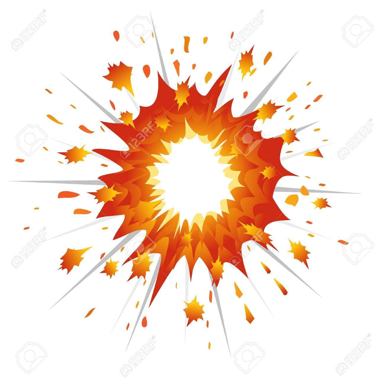 explosions clipart illustration pencil and color #14279