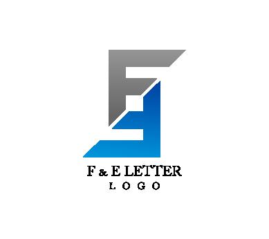 f letter alphabet vector logo #1551