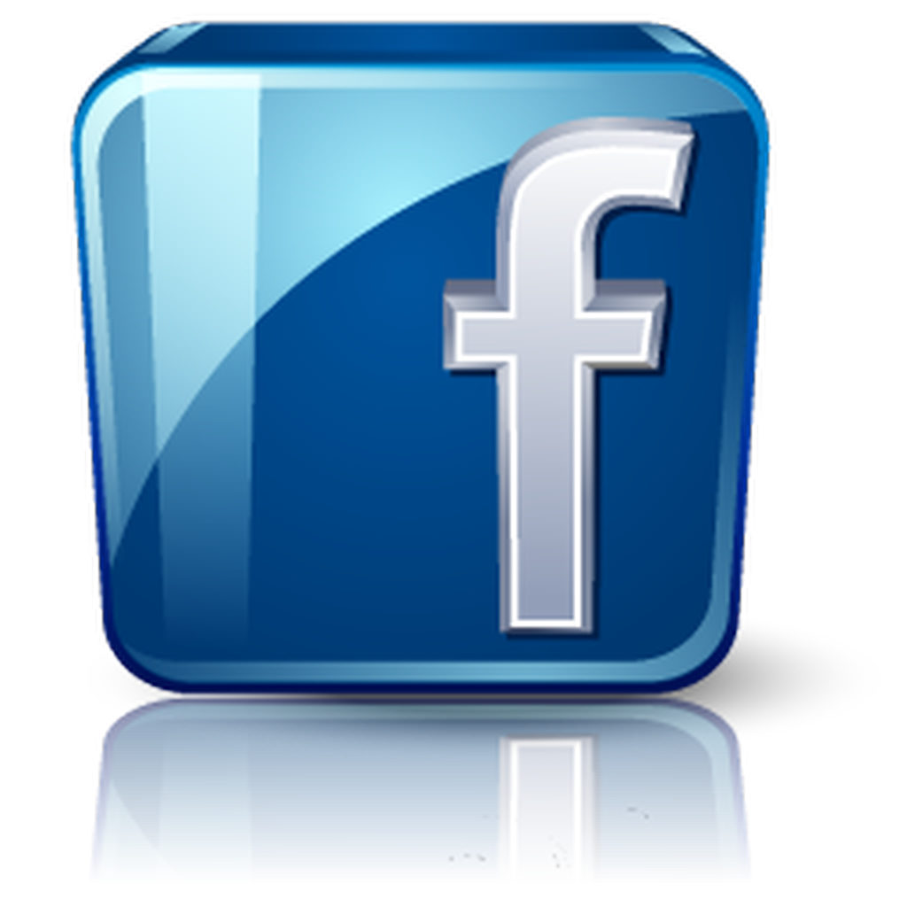 3D, Blue, Bright Facebook Logo PNG Icon #32233