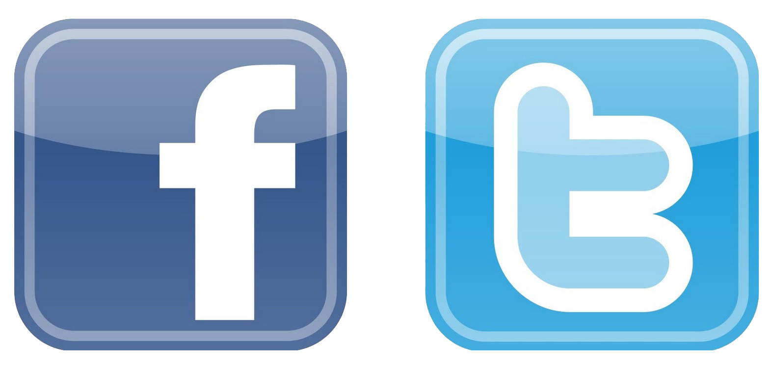 facebook and twitter logo png images #32224