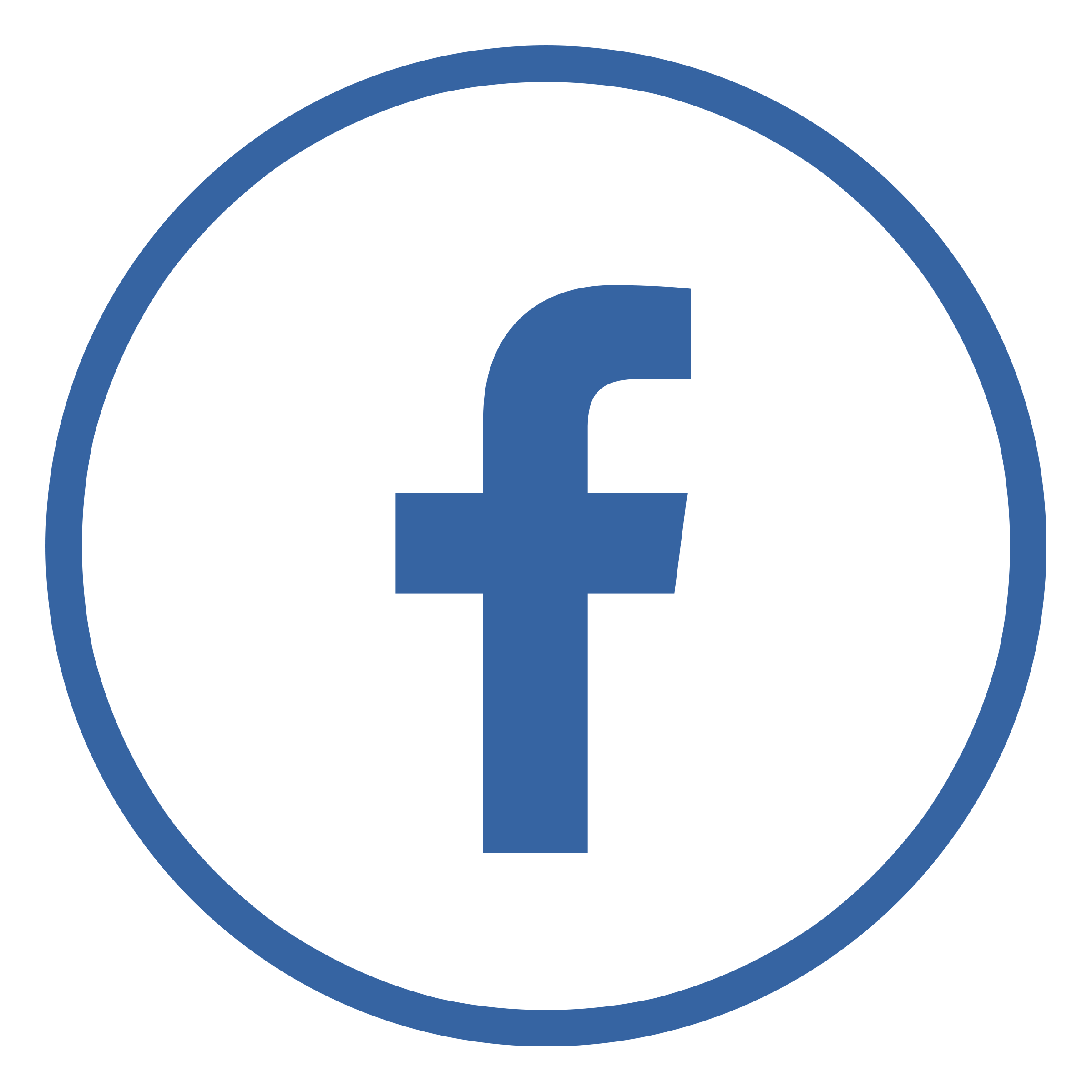 Transparent Blue Drawing Circle, Letter F Icon For Facebook #32215