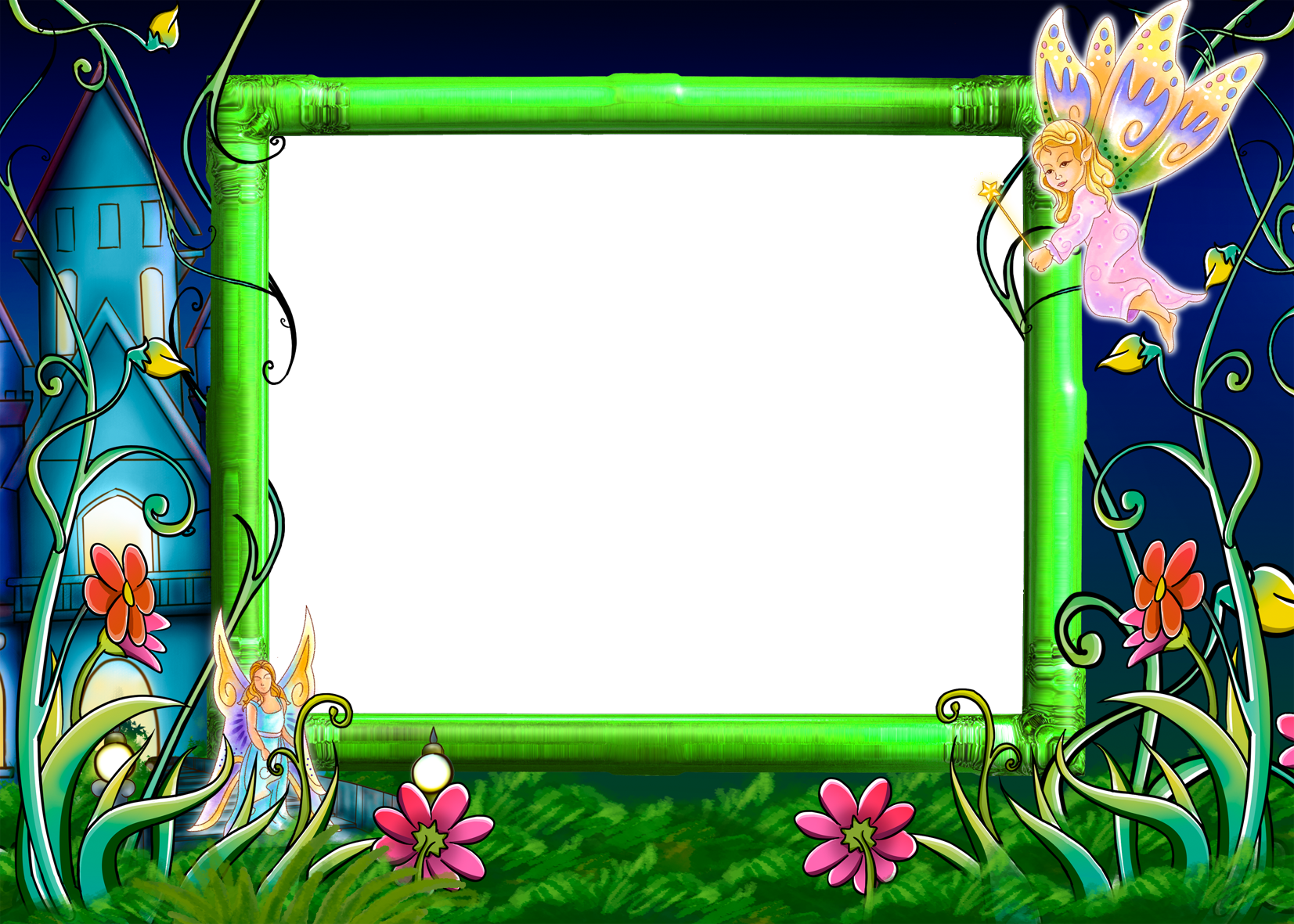 transparent clipart image fairy tale photo frame #28652