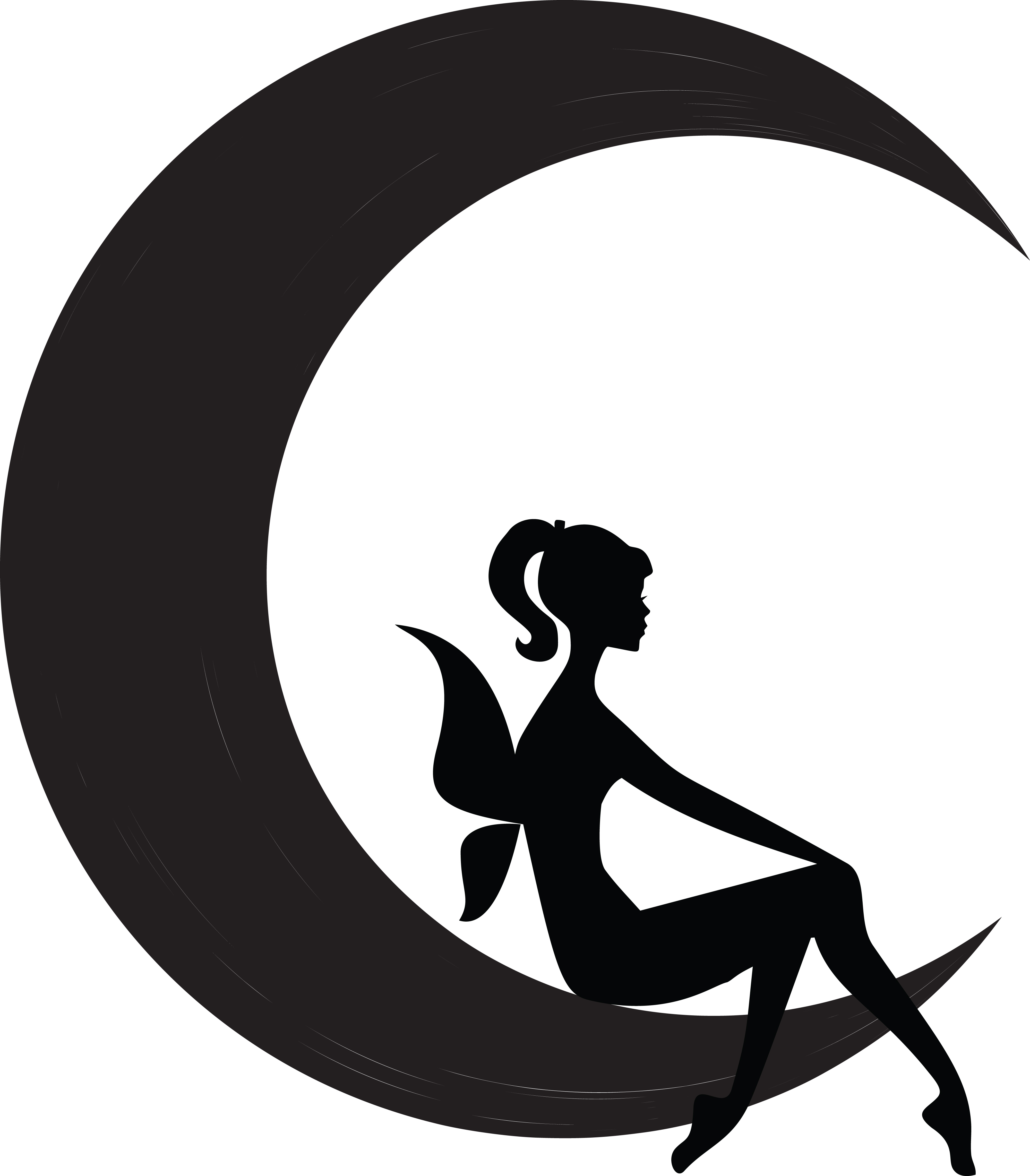 fairy clipart, clipart black and white silhouetted female fairy #31446