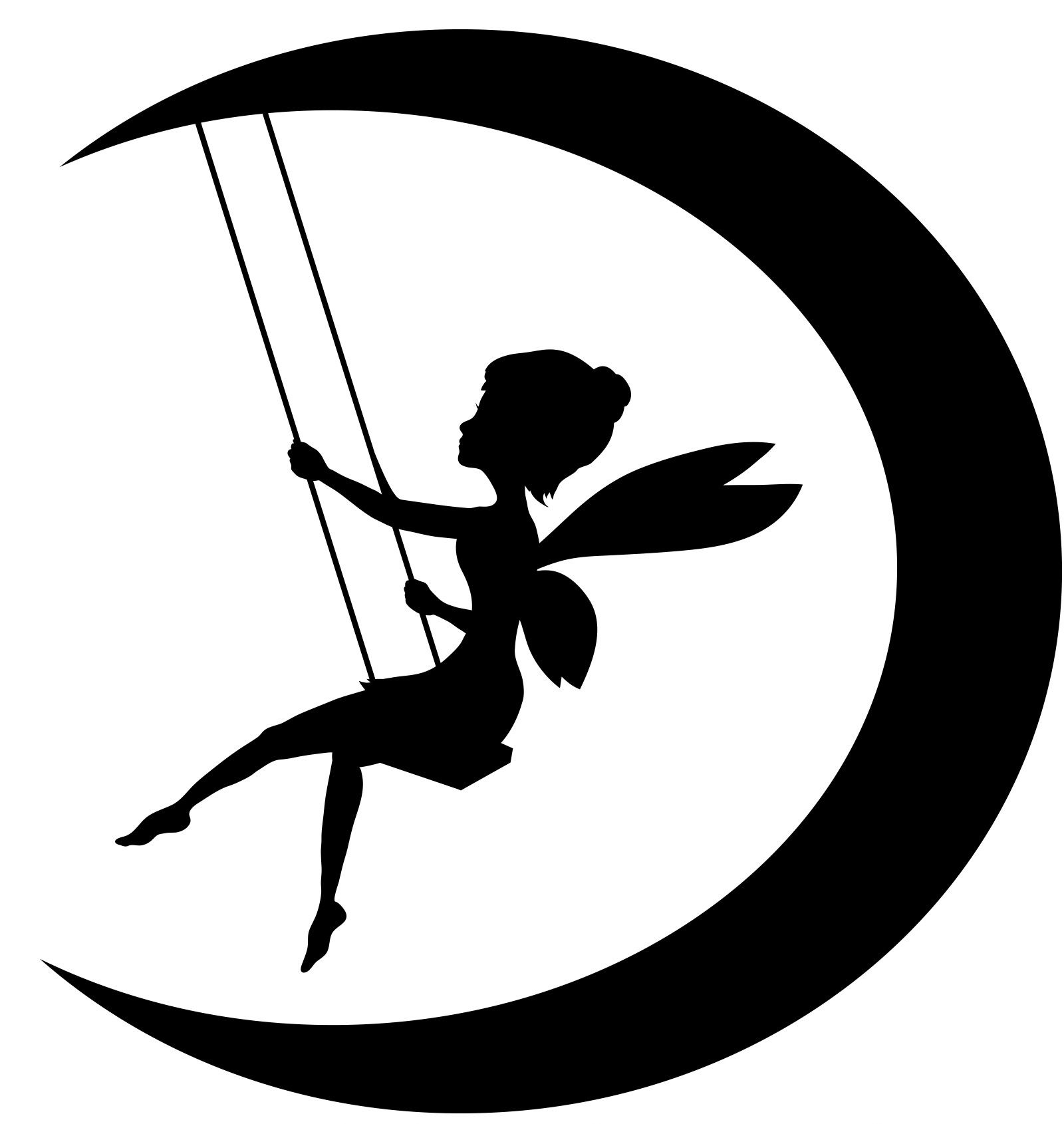 fairy clipart, viewing gallery for fairy moon silhouette clipart #31455