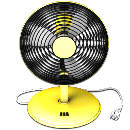 yellow fan icon fans icons softiconsm #16874