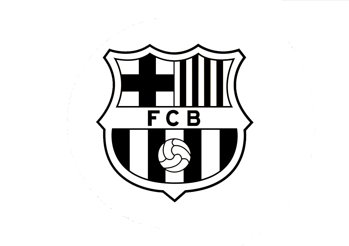 black and white fc barcelona logo png #5903