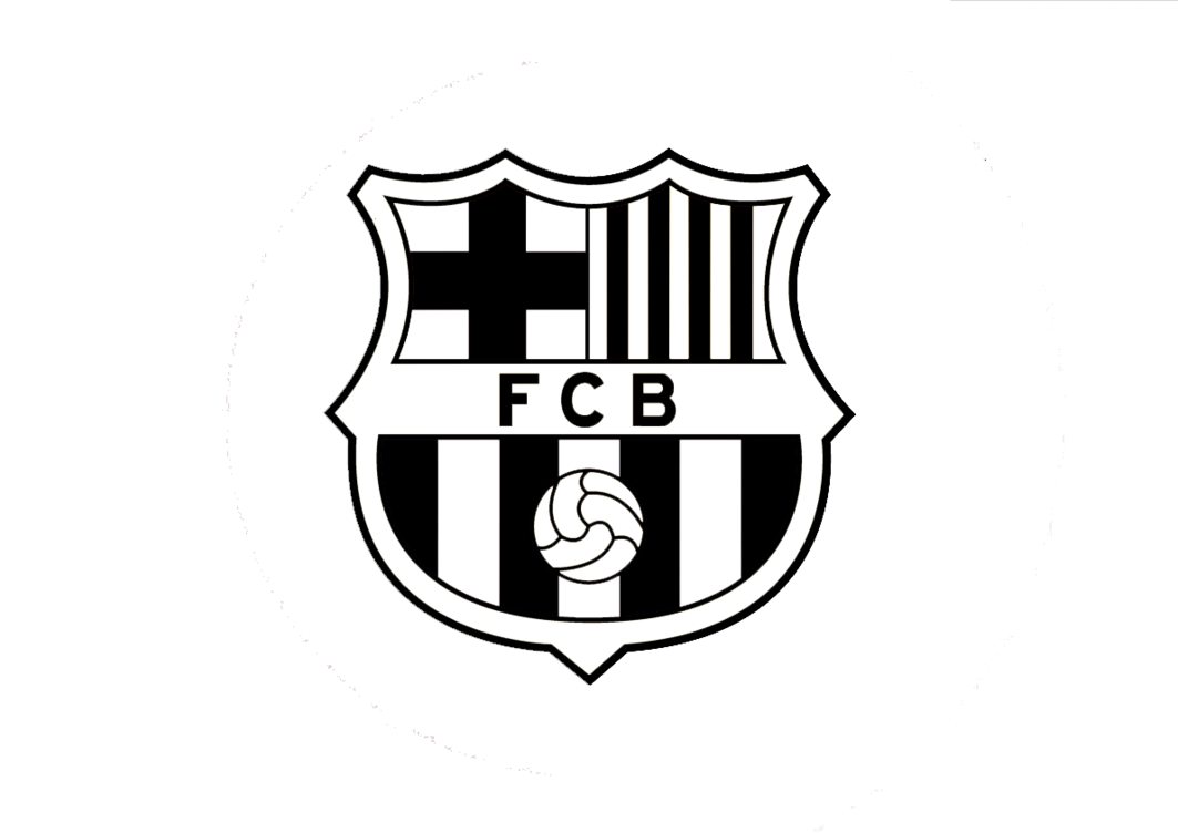 black and white fc barcelona symbol png logo #5912