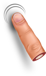 finger one cutout #8675