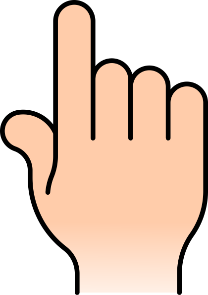 pointer finger clipart #8665