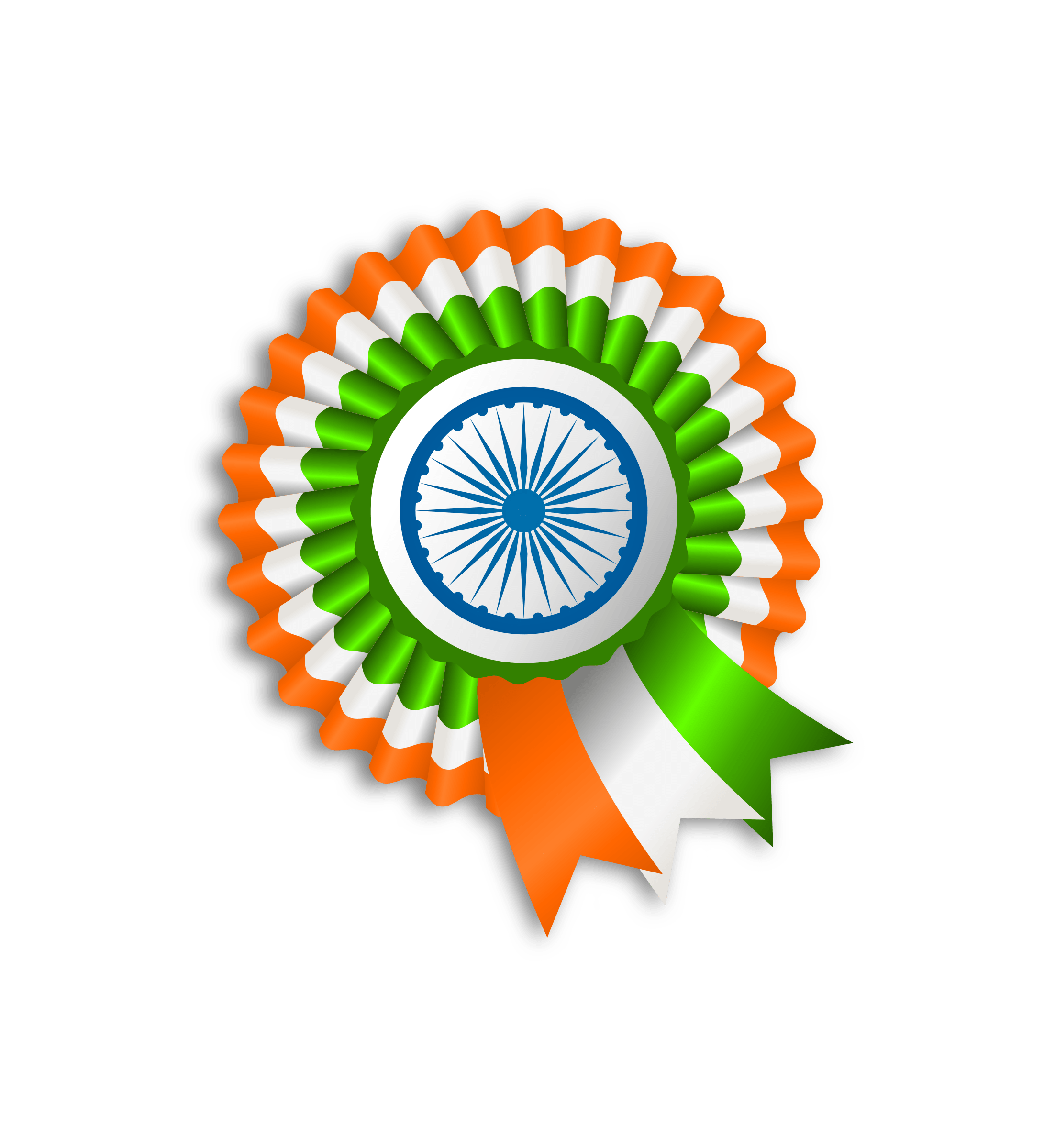 ribbon india flag transparent 7021