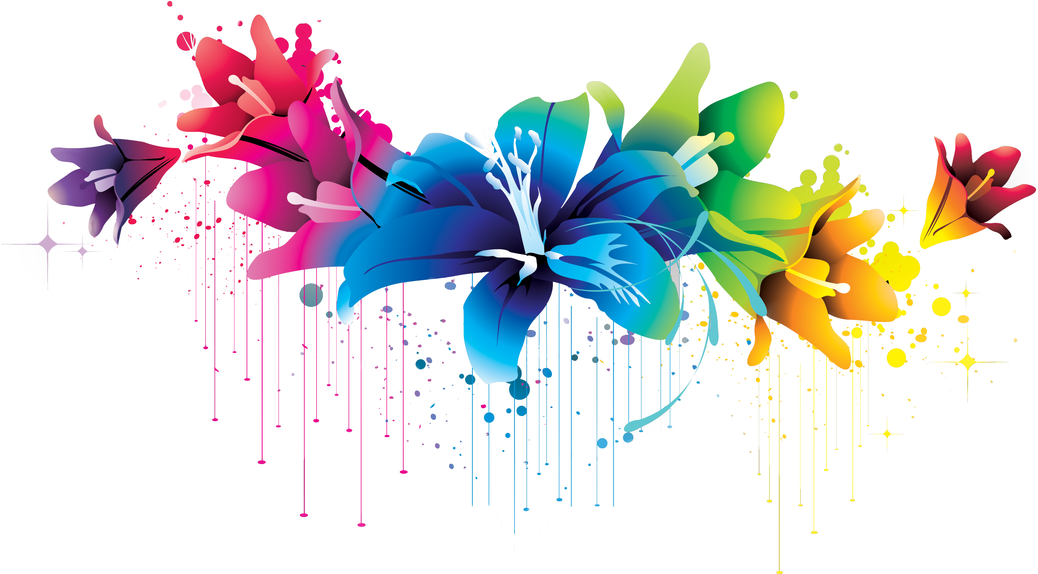 flour flowers vector png colorful flower vector clipart #37431