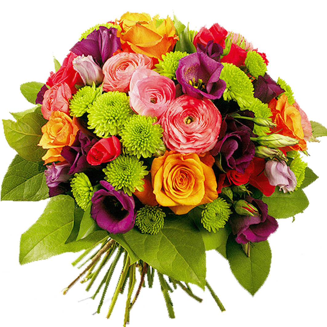 colorful bouquet flowers png image purepng transparent #34073