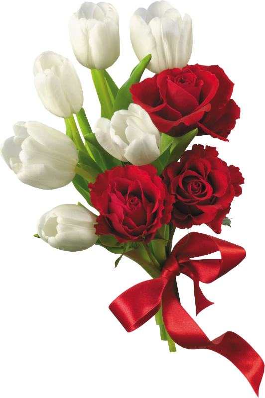 dream wedding flower bouquet red and white rose #34091