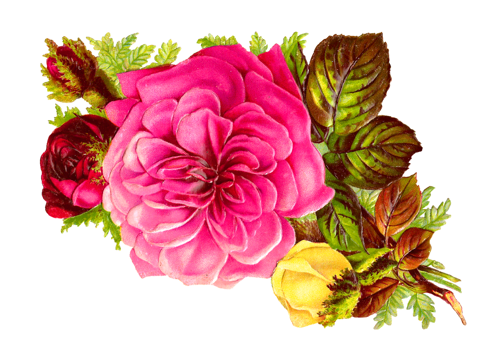flower bouquet antique images rose bouquet clip art pink red and #34100