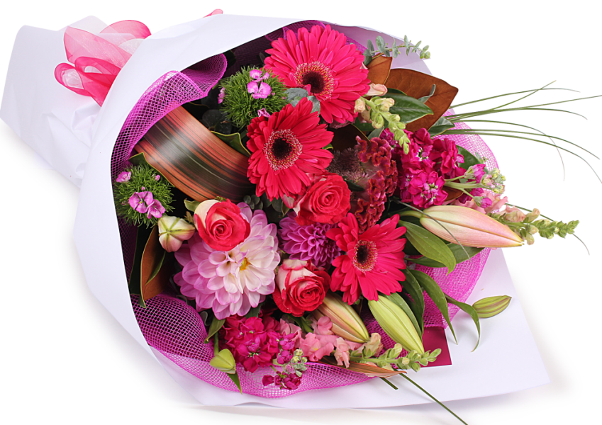 flower bouquet download birthday pink flowers bouquet transparent png image #34072