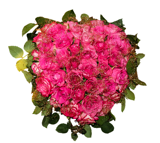 pink flowers bouquet roses photo design #34101