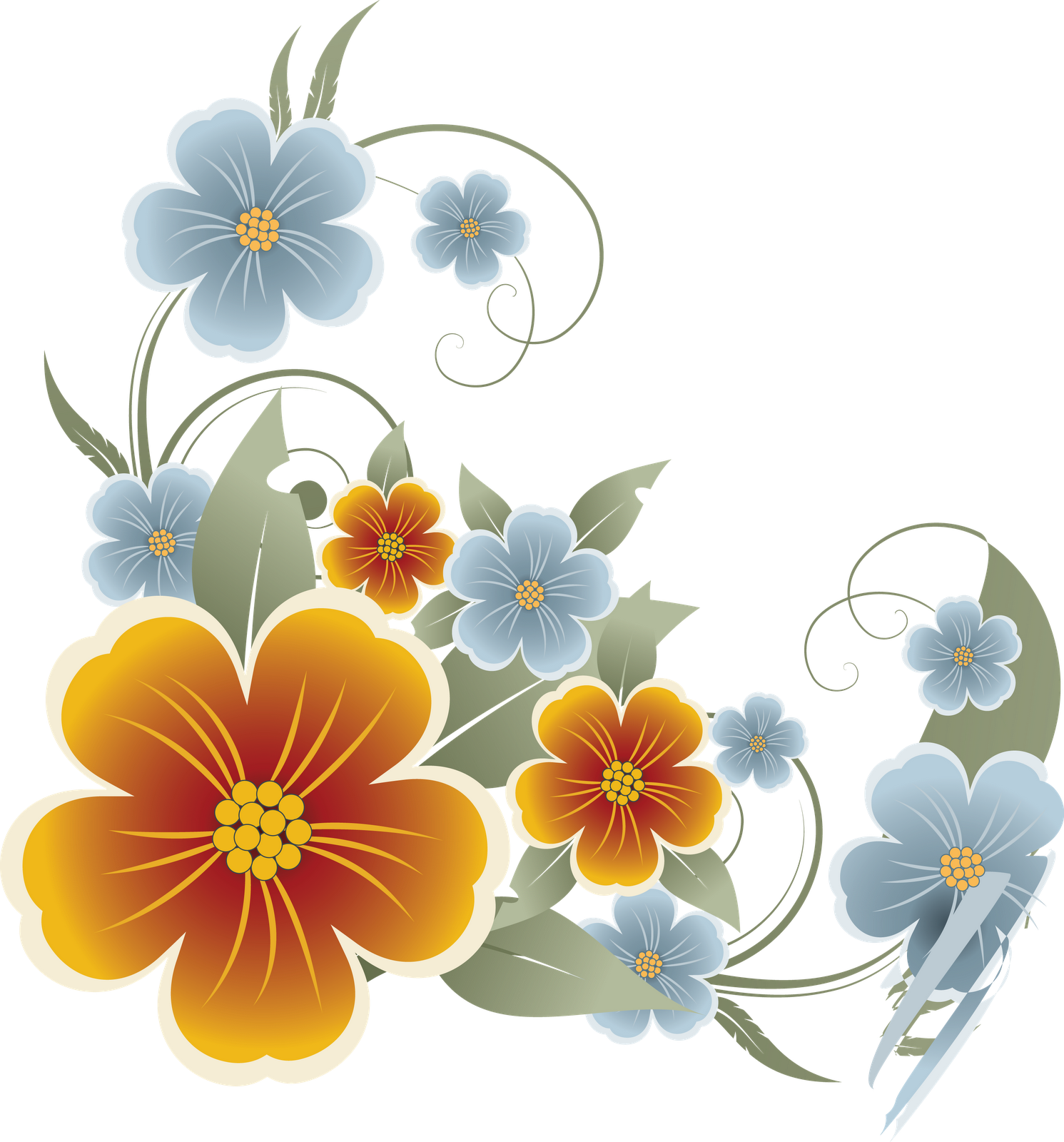 flowers vectors transparent #8191