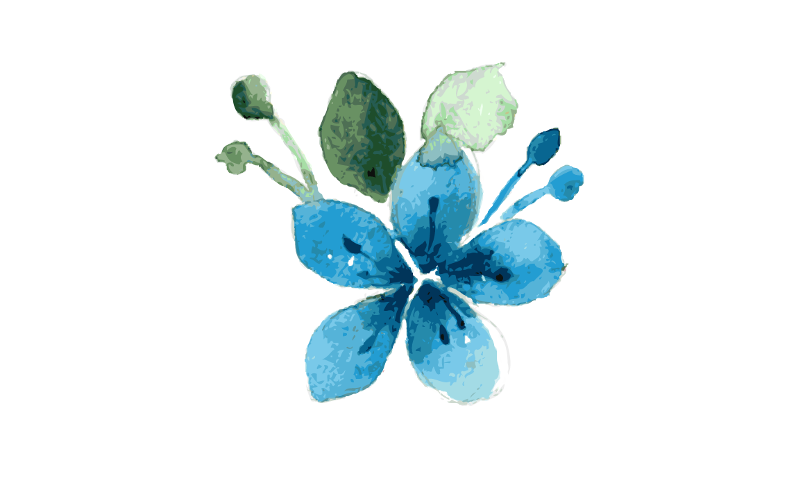 flower watercolor, blue flowers watercolor clipart images gallery for #31297