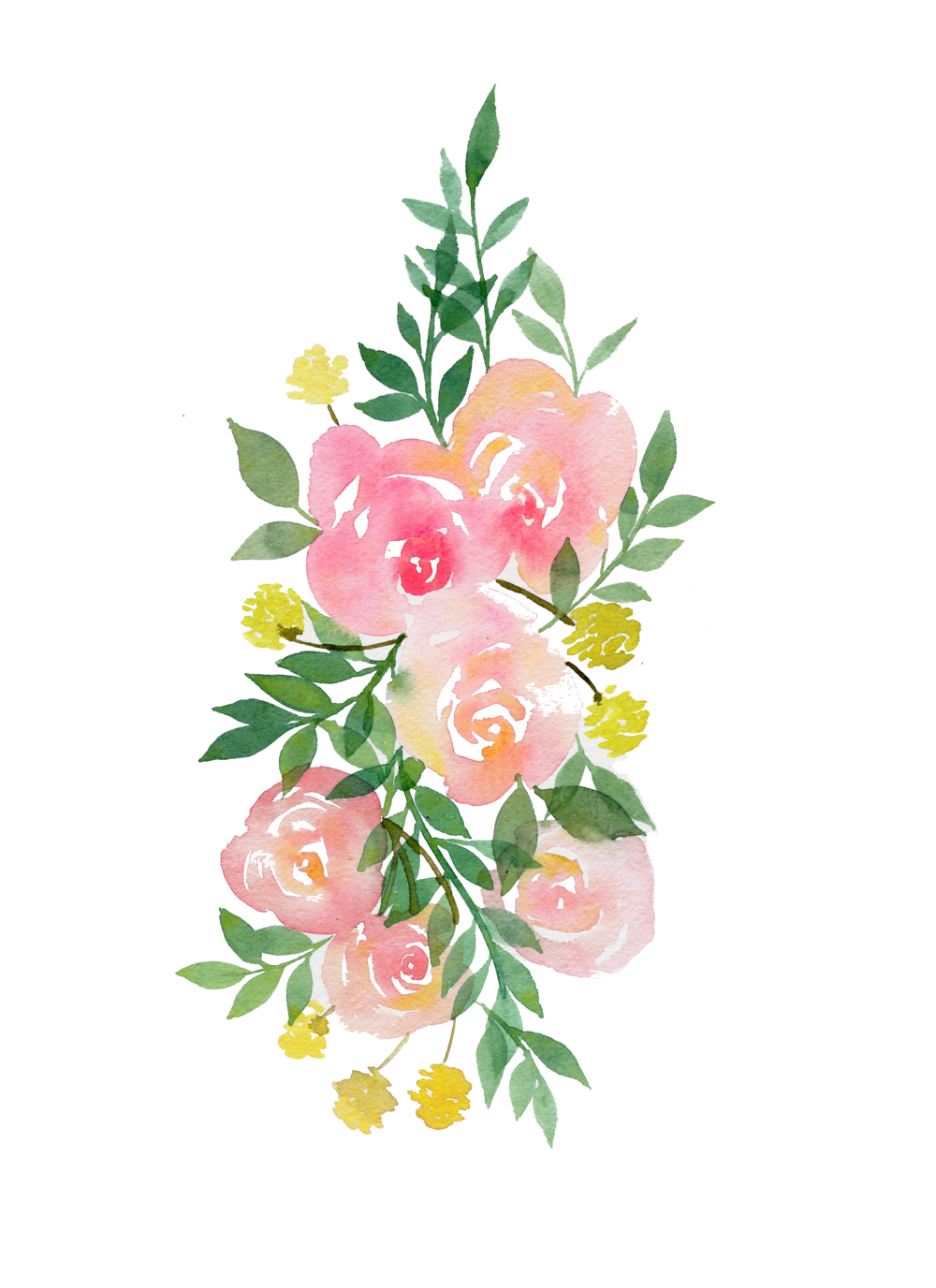flower watercolor, rose garland paint fun watercolors pinterest #31285