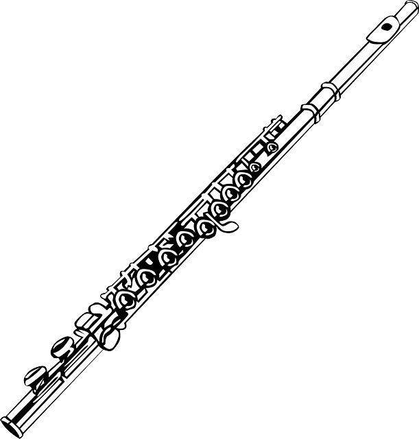 flute musical instrument vector graphic #30568