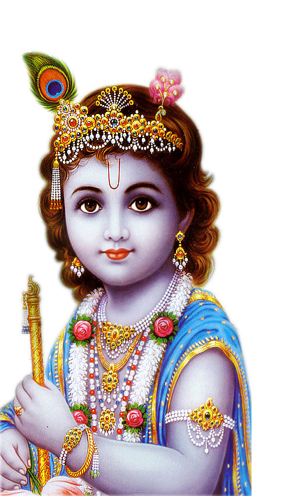 transparent krishna png with flute #30666