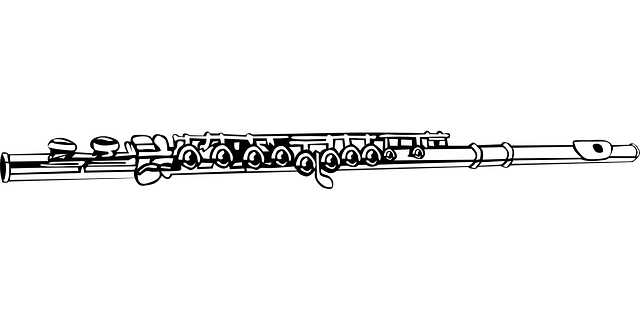 vector graphic flute music musical instrument image #30629