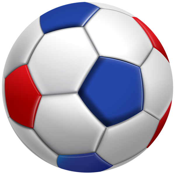 blue, red, whit ball, football #8896