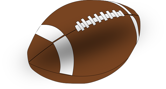 vector graphic american football ball #8897