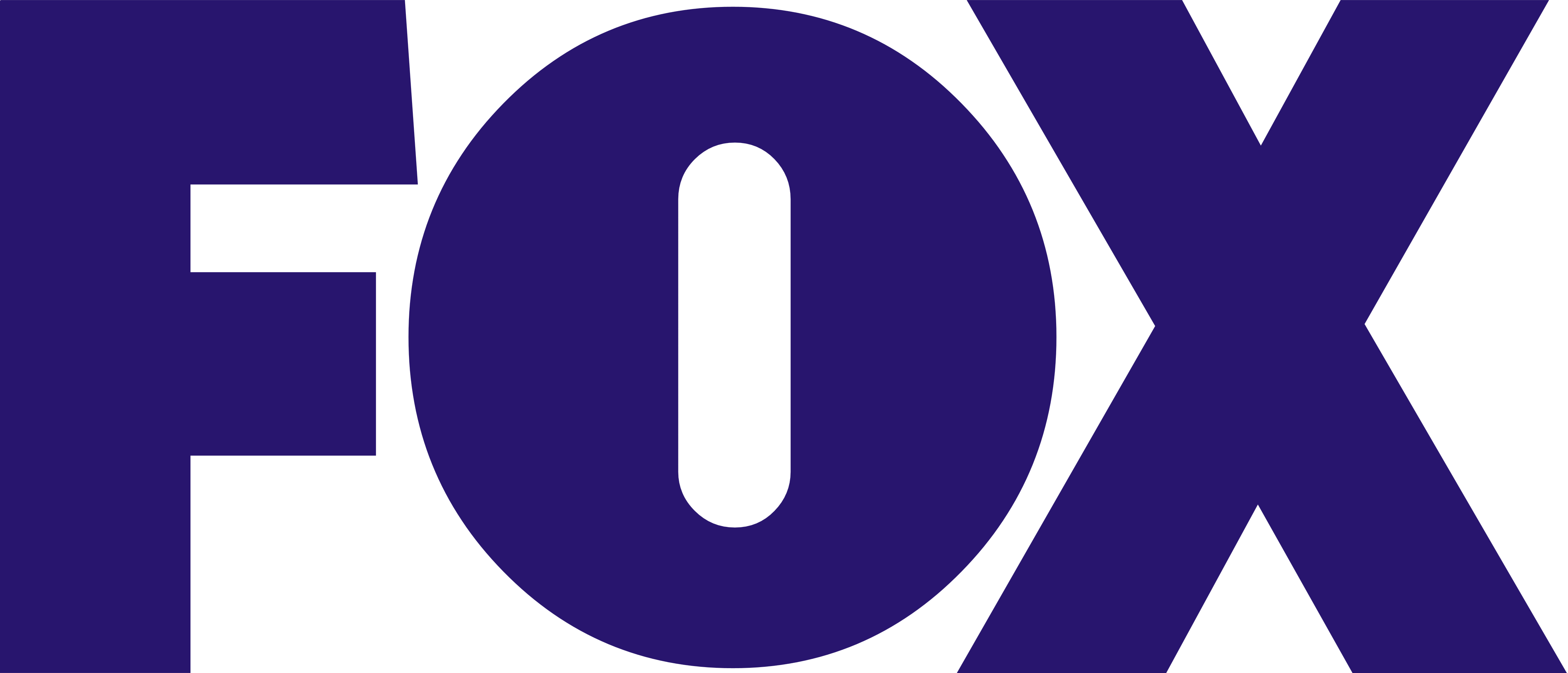 fox logo indigo color broadcasting company png #1638