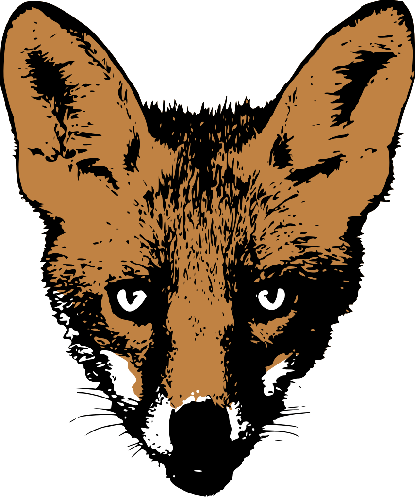 file drawing fox face svg wikimedia commons #28559