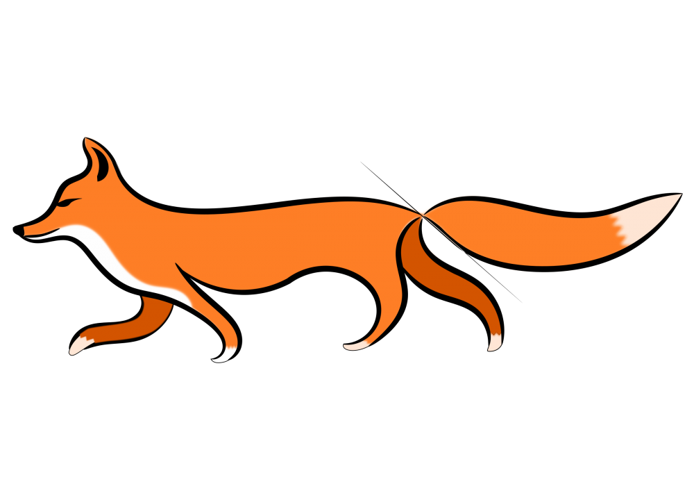 walking fox animals png transparent clipart image #28583