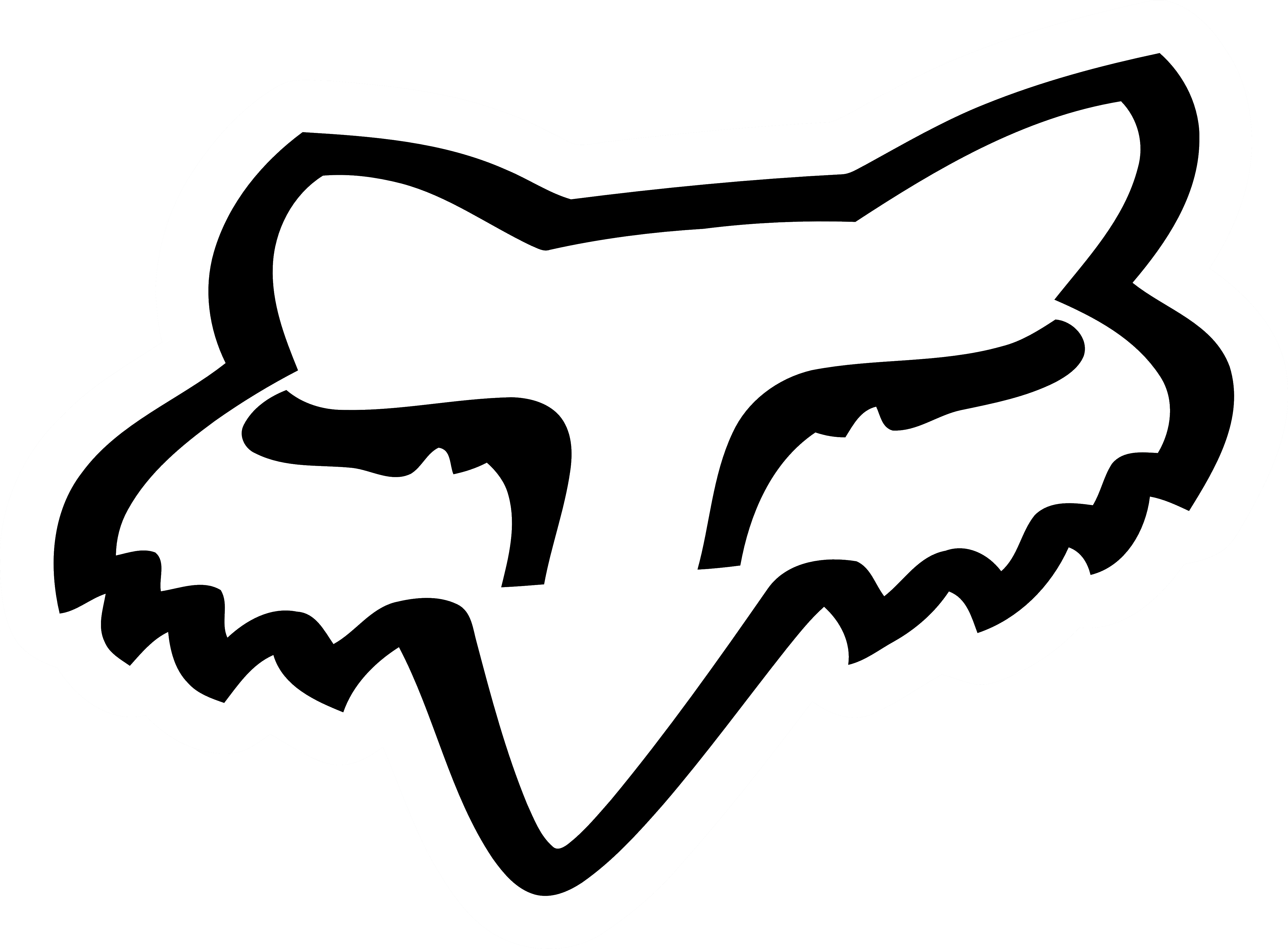 fox racing logo head white black logo png 1648 free
