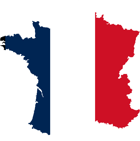 file silhouet france with flag #8038