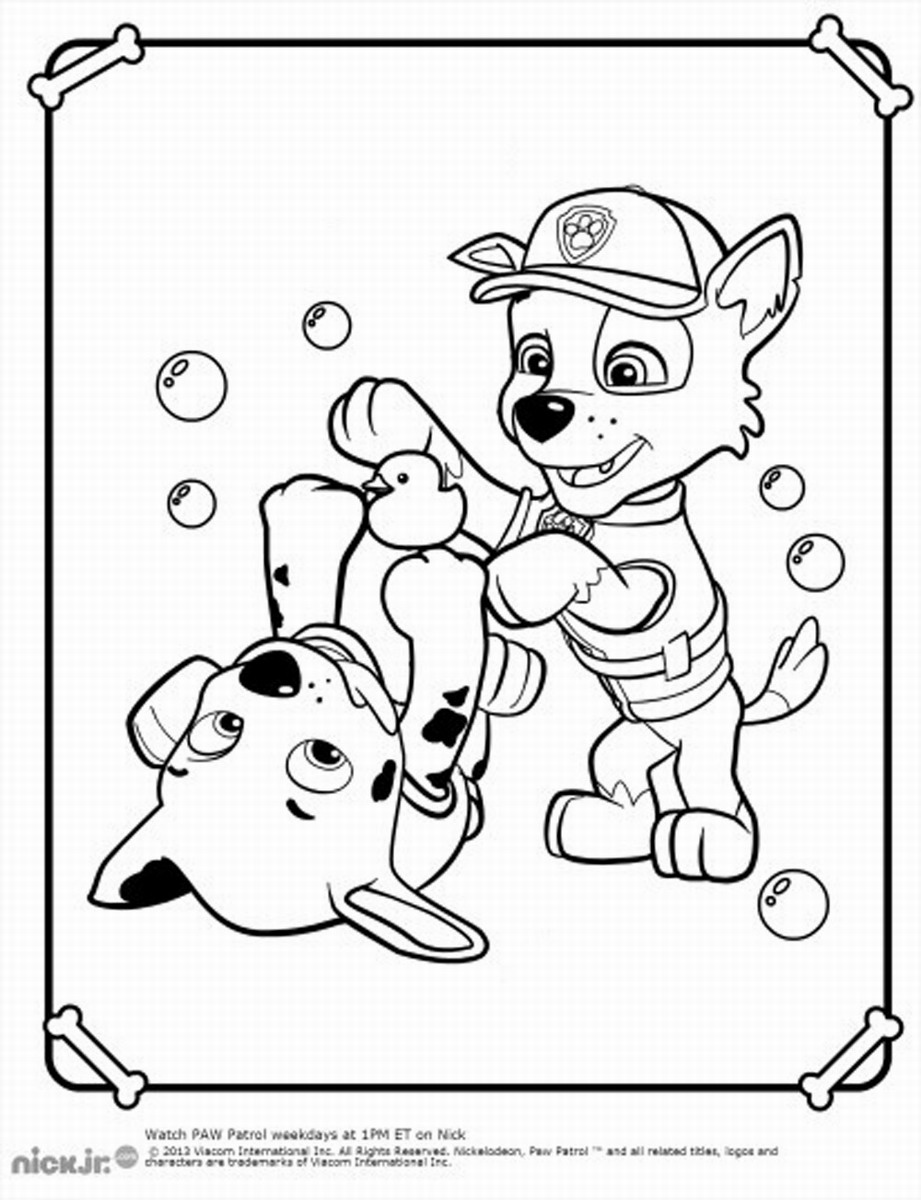 free coloring pages of paw patrol cat chase #2620