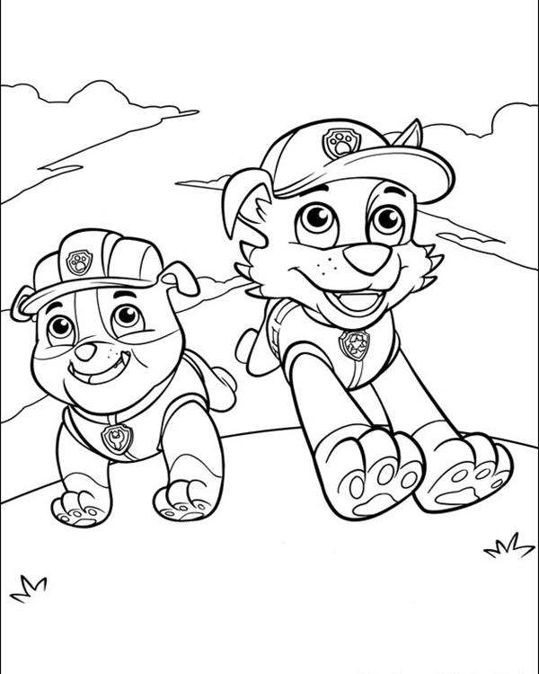 free coloring pages of paw patrol cat zuma #2633