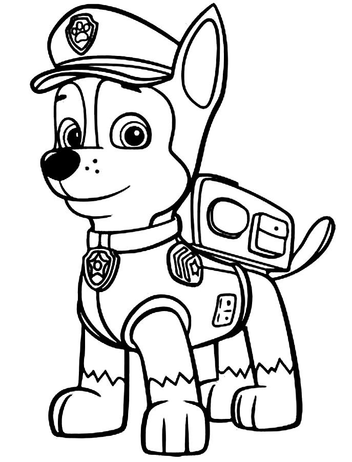free coloring pages of paw patrol marshall #2621