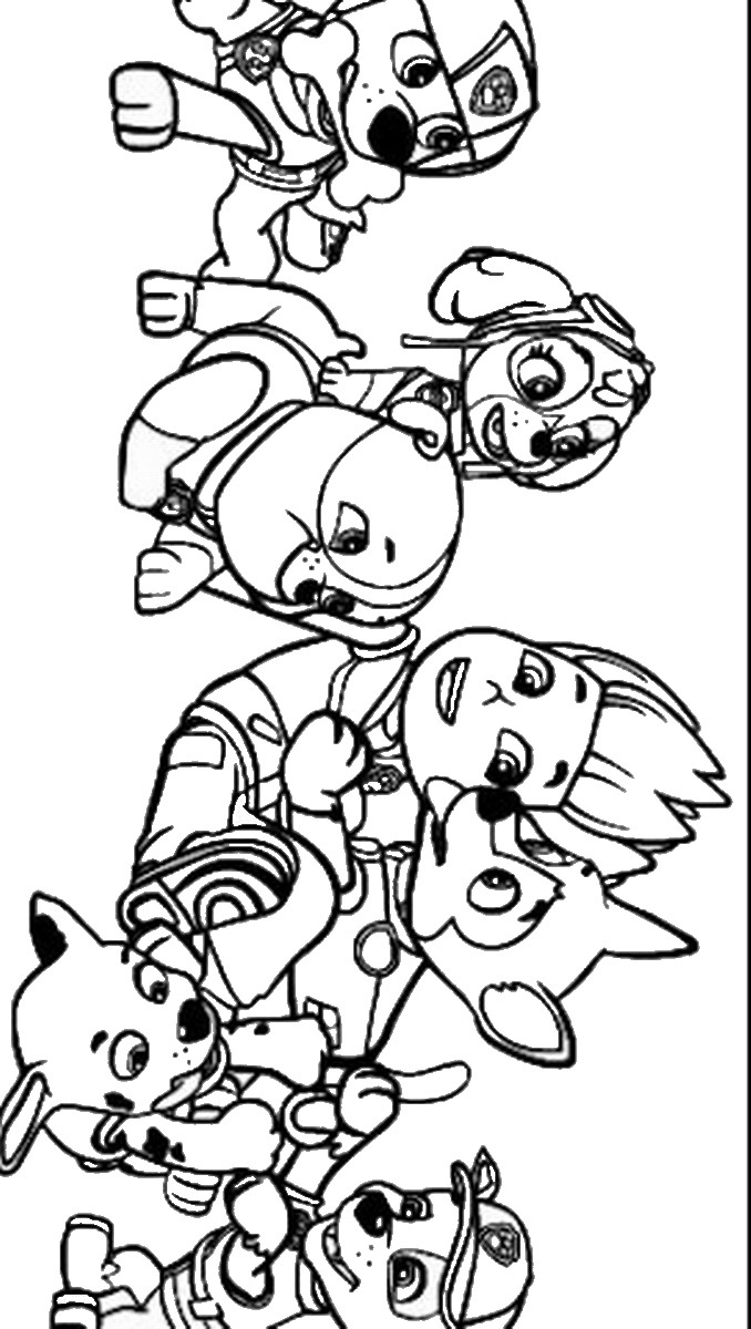 free coloring pages of paw patrol marshall #2623