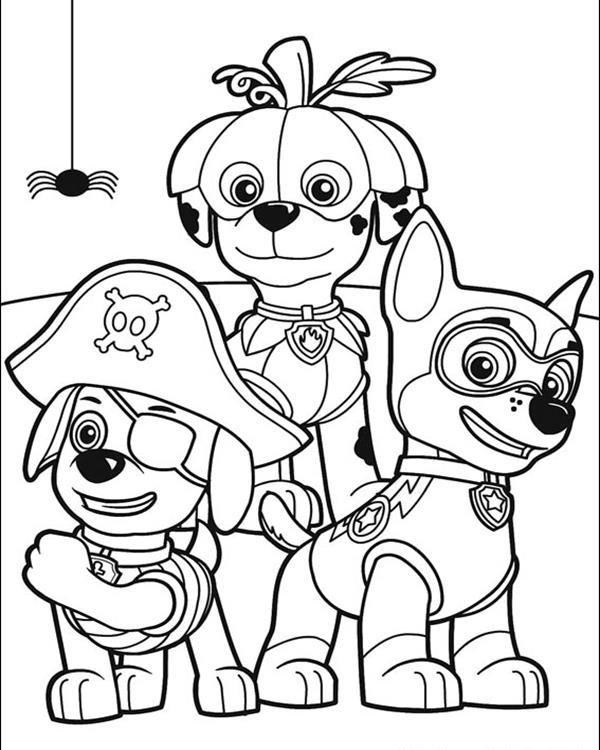 free coloring pages of paw patrol pics #2624