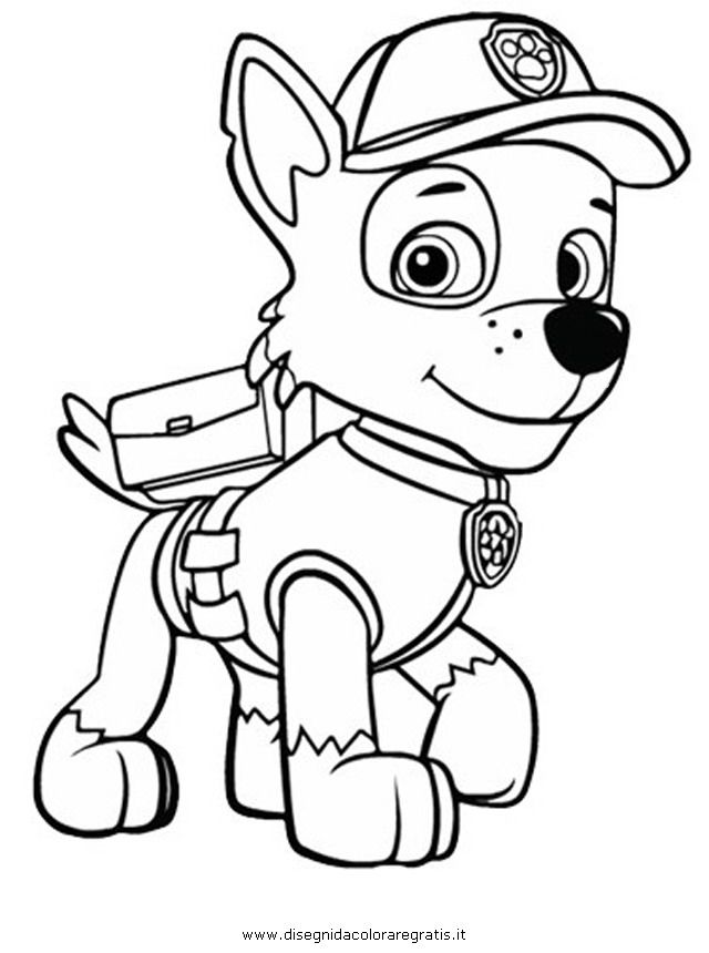free coloring pages of paw patrol smiley #2627