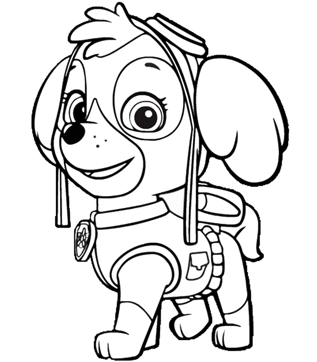 free coloring pages of paw patrol symbol #2619