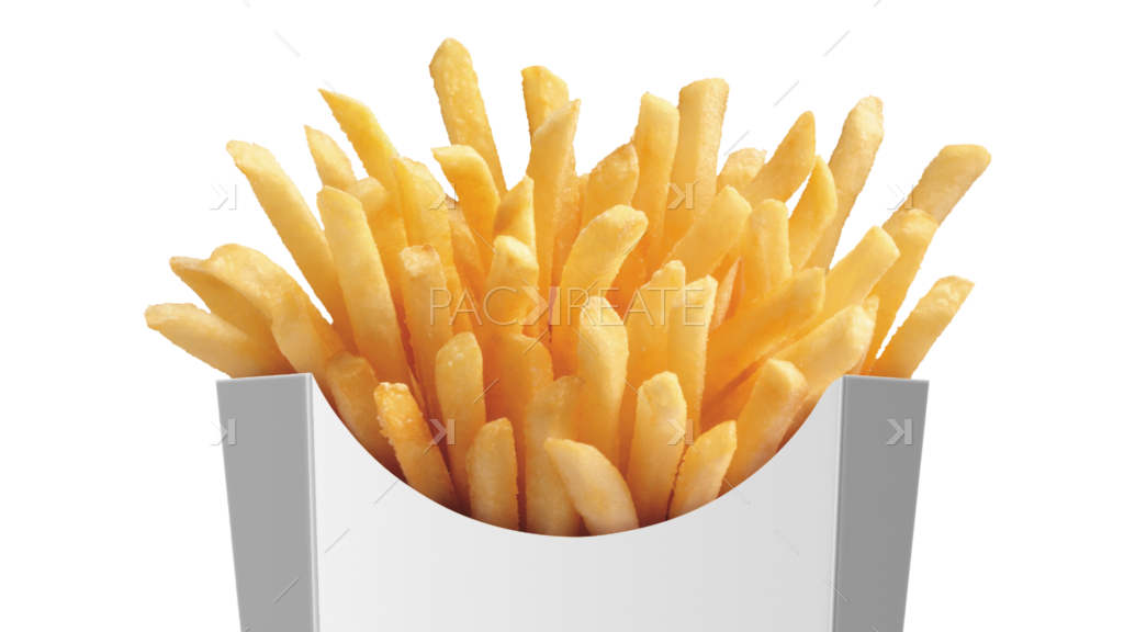 packreate large french fries packaging psd mockup #20390