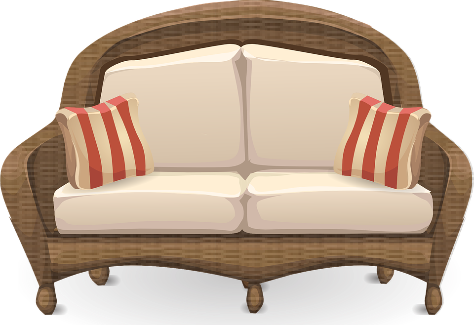 furniture, couch loveseat sofa vector graphic pixabay #21952