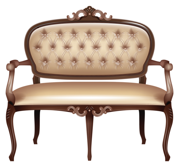furniture, transparent victorian loveseat png clipart picture #21962