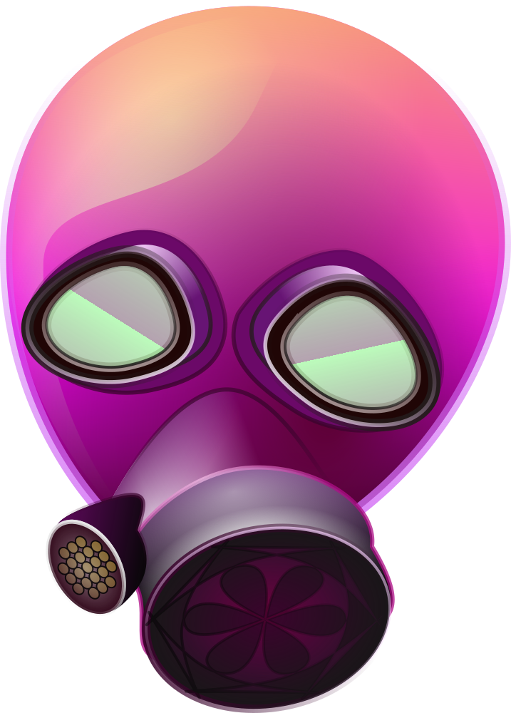 clip art pink gas mask #39170