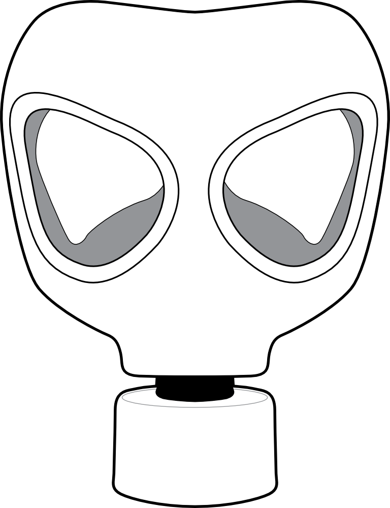 gas mask drawing clip art gas mask #39172