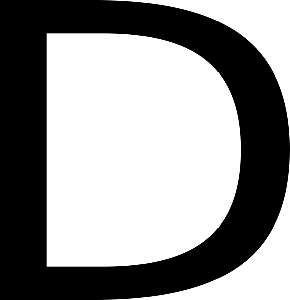 Georgia, Letter, D, English, Alphabet logo png #1389