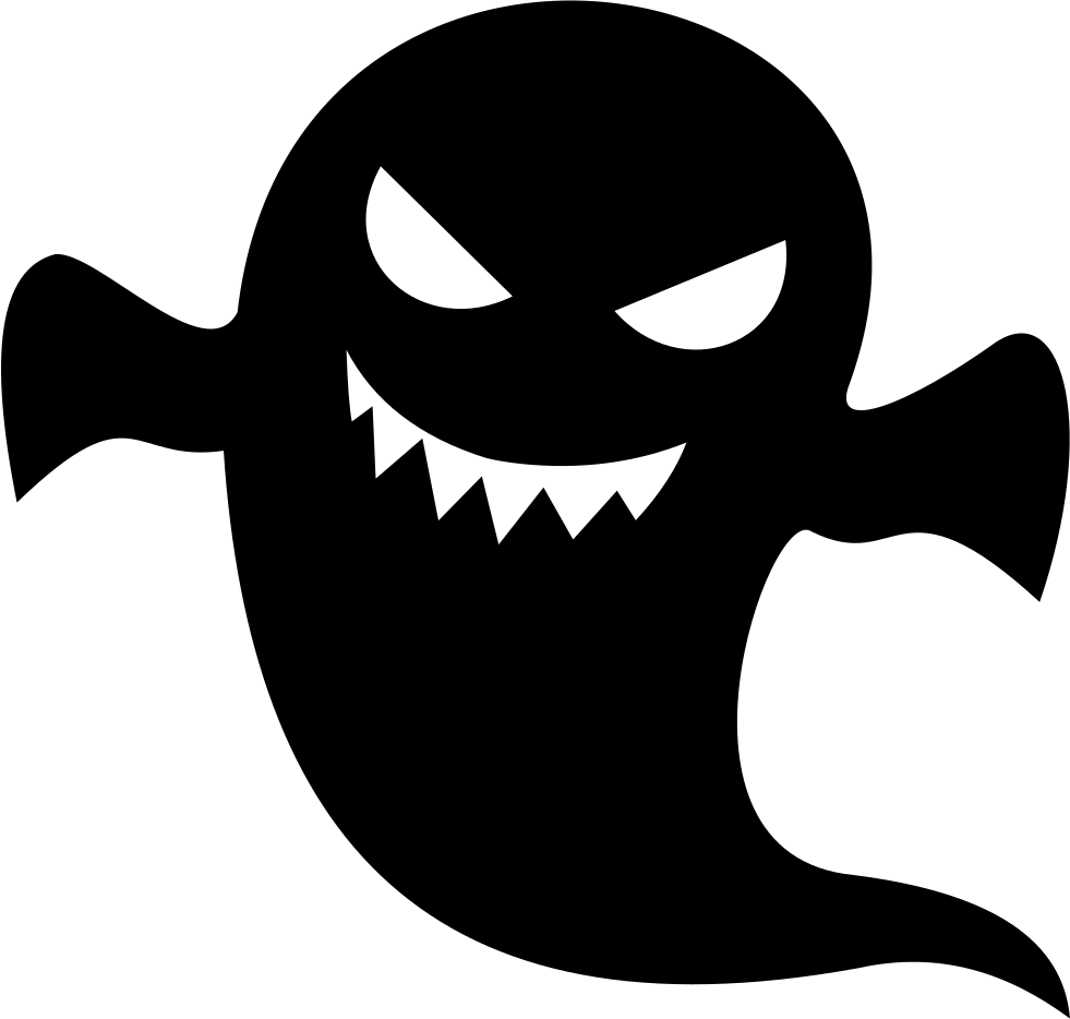 creepy ghost svg png icon download #17951