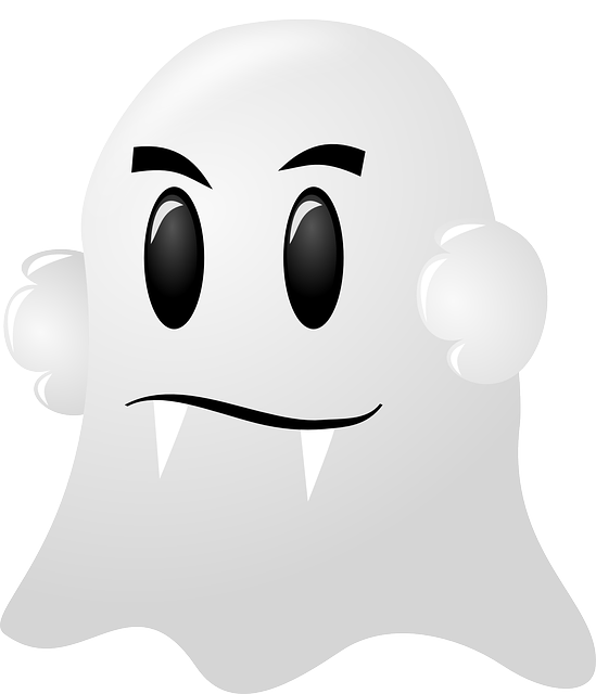 ghost white spooky vector graphic pixabay #17945