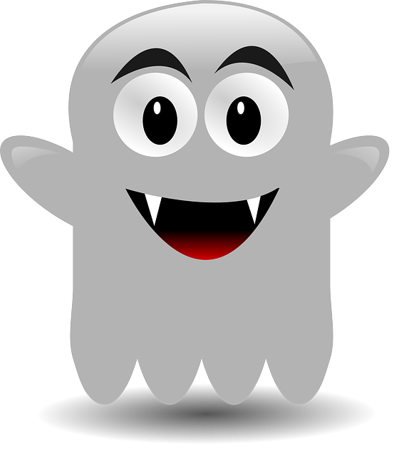 vector graphic ghost vampire cartoon friendly #17927